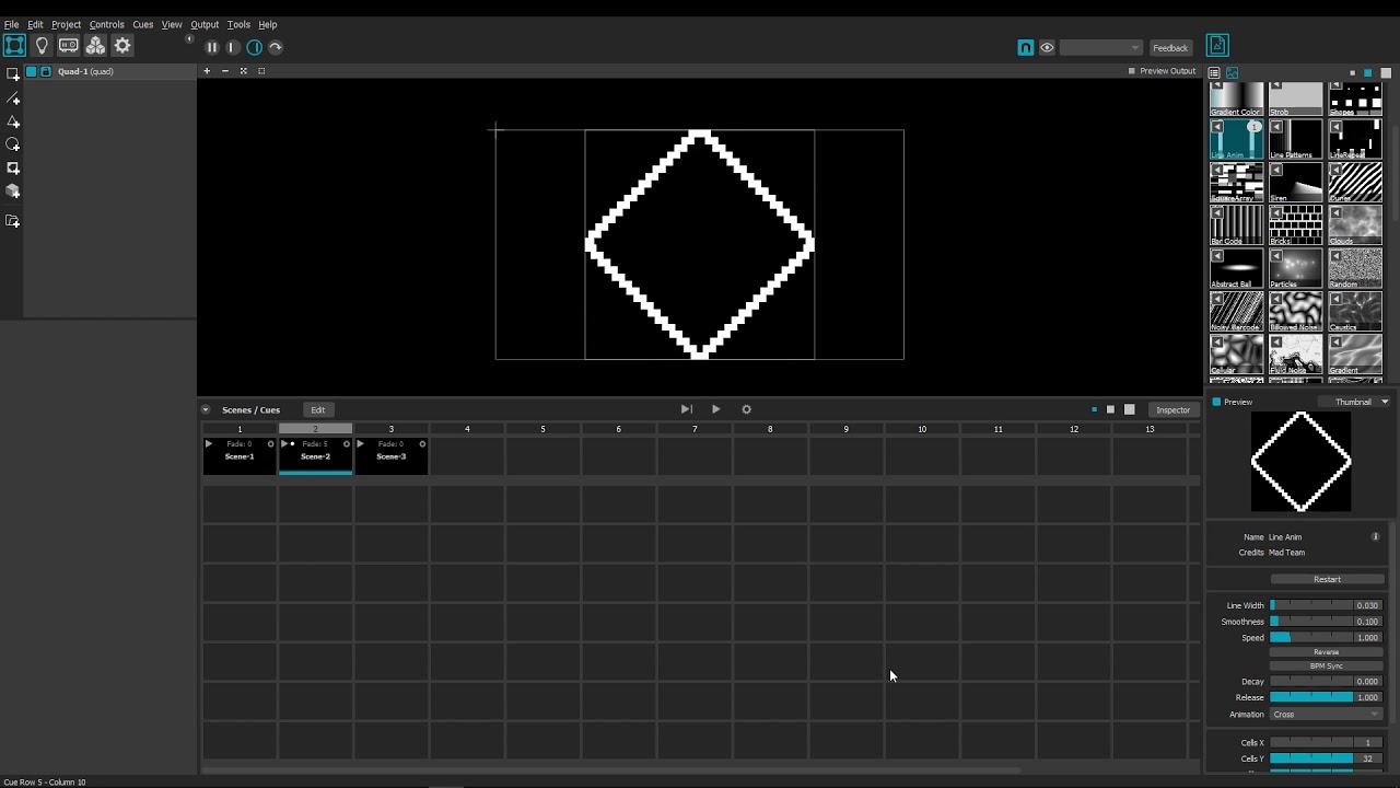 Cues: Edit Mode #2 — MADTutorial Scenes and Cues