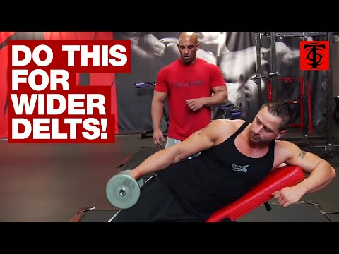 Sideways Incline Dumbbell Lateral Raise