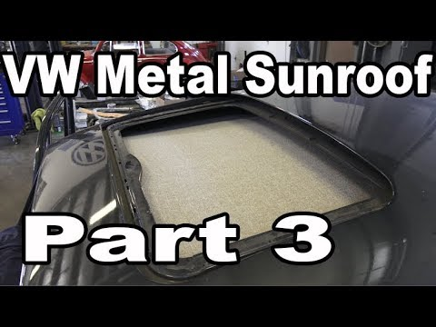 Classic VW BuGs How to Install Beetle Metal Sunroof Headliner Pt.3