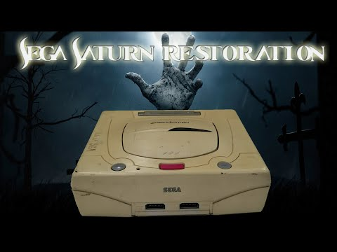 Retro Restore - Restoration of Sega Saturn Model 2 - From Junk to Beauty!! Modded Sega Saturn!!