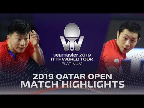 Ma Long vs Xu Xin   2019 ITTF Qatar Open Highlights (1/2)