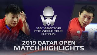 Ma Long vs Xu Xin | 2019 ITTF Qatar Open Highlights (1/2)