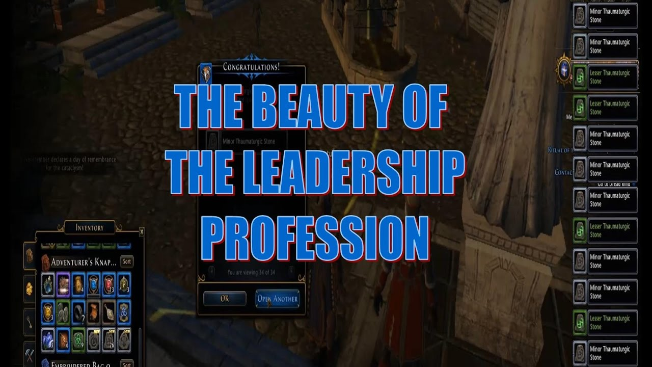 Neverwinter leadership profession