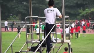 100學年度明志科大校運會400公尺接力 變形金剛 蒙面俠 第一名