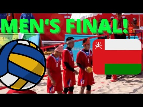Final Mens Beach Sepaktakraw Match during the 2nd Asian Beach Games, Muscat, Oman 2010