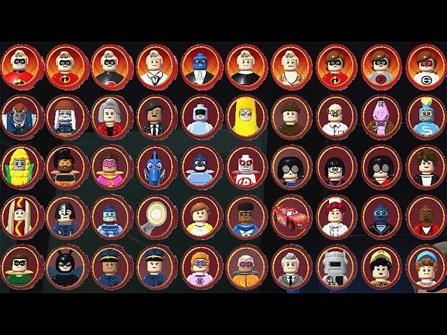 LEGO The Incredibles - All Characters