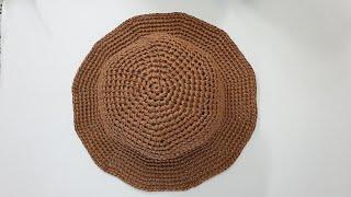 코바늘 모자뜨기/기본패턴의 쉬운 여름 벙거지 모자/버킷…