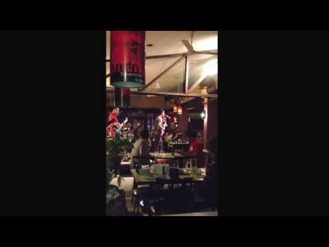 Live band at the Quattro Bar & Grill  in Timog Ave, Quezon City, Philippines