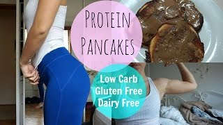 Protein Pancakes | Low Carb, Gluten Free + Dairy Free