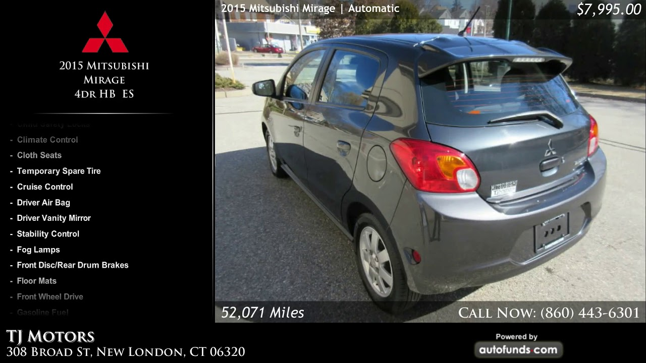 used 2015 mitsubishi mirage tj motors new london ct
