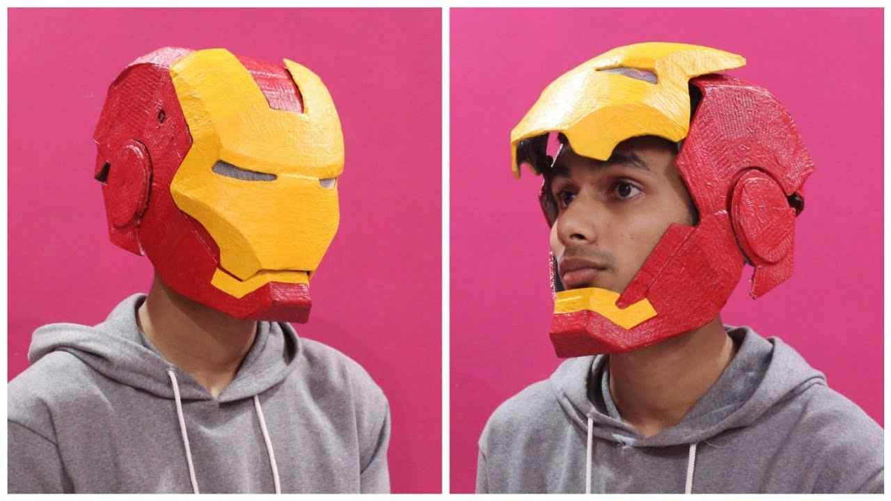 How To Make Iron Man Helmet | From Cardboard | In hindi