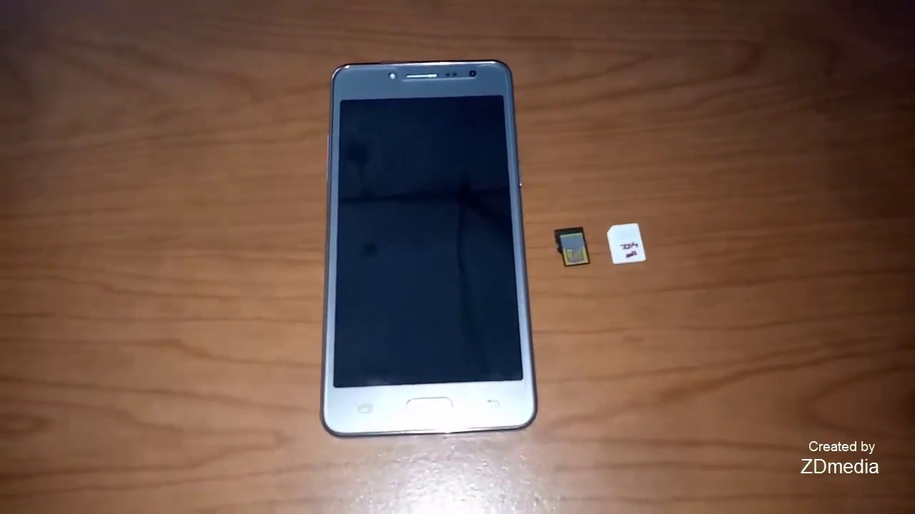 Samsung J2 Prime Silver How To Insert Sim Card And Microsd Card