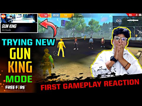 FREEFIRE || NEW MODE ' GUN KING ' || FUTURE UPDATE 2020 , PLAYING FIRST TIME || LIVE REACTION