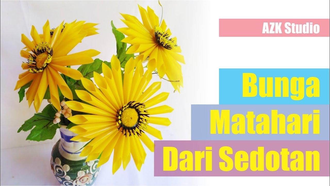 Wow! Menyulap Sedotan Bekas Menjadi Bunga Matahari  bdd19be413