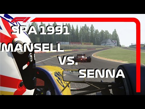 F1 1991 Classic Onboard: Mansell VS Senna at Spa | Assetto Corsa VERSUS Series |