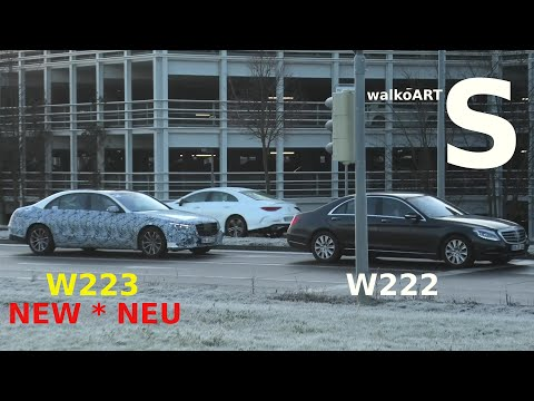Mercedes Erlkönig S-Klasse 2020 hinter der S-Klasse 2013 * W223 prototype behind W222 *4K SPY VIDEO