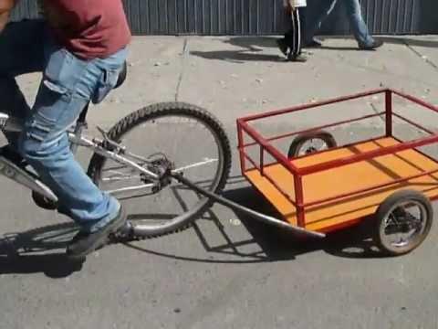 3e71a0395 Funcional remolque de carga para bicicleta - YouTube