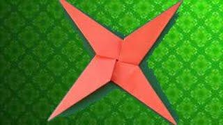 ЗВЕЗДА НИНДЗЯ (СЮРИКЕН) ИЗ   БУМАГИ. Оригами своими руками