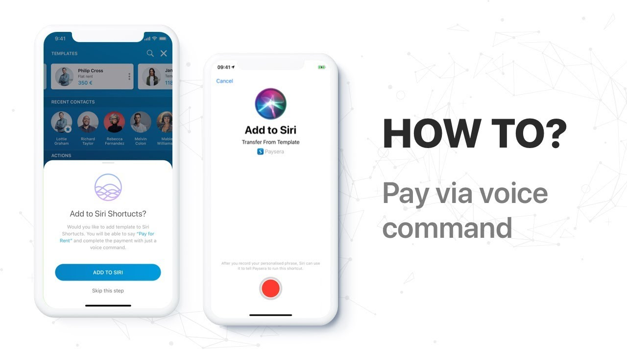 How to Use Paysera with the Siri Shortcuts App?