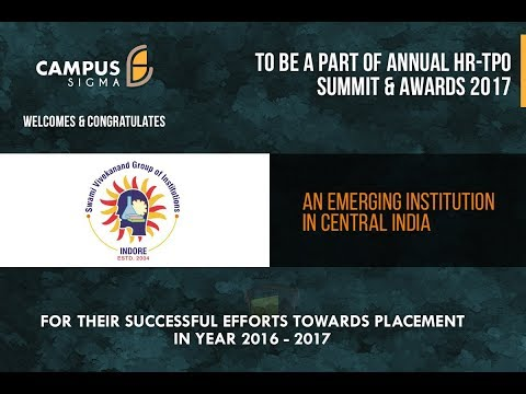 SVGI, Indore placement stats 2016-2017 at Annual HR-TPO Summit & Awards 2017