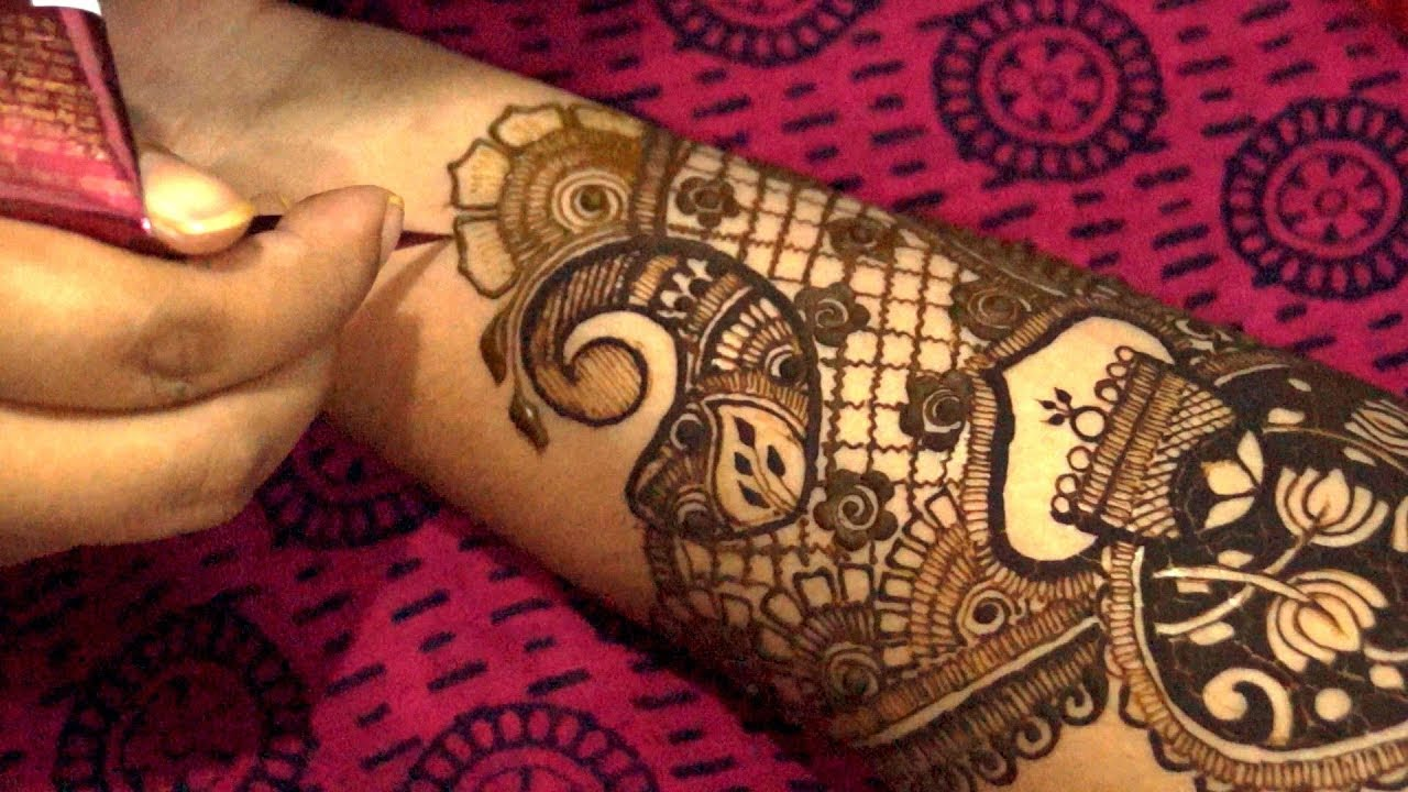 Mehndi Bridal Design Latest : Step by latest bridal mehndi design for hand youtube