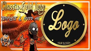 Classic Gold Logo Template  Speed Art and Download