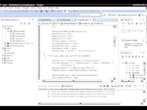 [Mini Projet Java] Gestion des étudiants connectée avec la base de donnée MYSQL