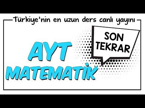 YKS - AYT Matematik Son Tekrar | Kamp2018