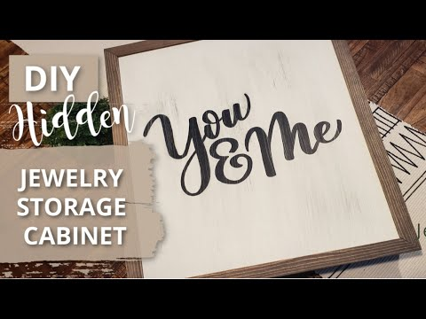 Hidden DIY Jewelry Organizer Cabinet