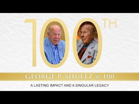 George P. Shultz @ 100 | A Lasting Impact And A Singular Legacy