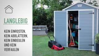 Keter Manor 6x8 Outdoor Garden Storage Shed - DE