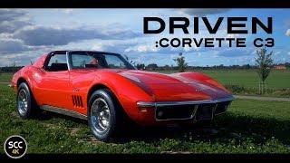 4K | Chevrolet Corvette C3 Stingray T-TOP 1968 - Test drive in top gear - V8 Engine sound
