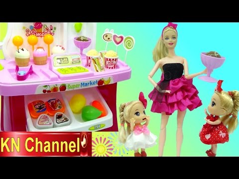 KN Channel SIÊU THỊ BÚP BÊ BARBIE SUPERMARKET PLAYSET FOR DOLL