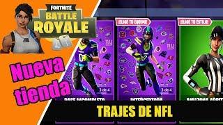 FORTNITE: New store! November 10th NFL TRAJES *NEW SKINS*