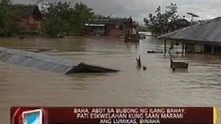 24 Oras: Baha sa Bunawan, Agusan del Sur, abot sa bubong ng ilang bahay
