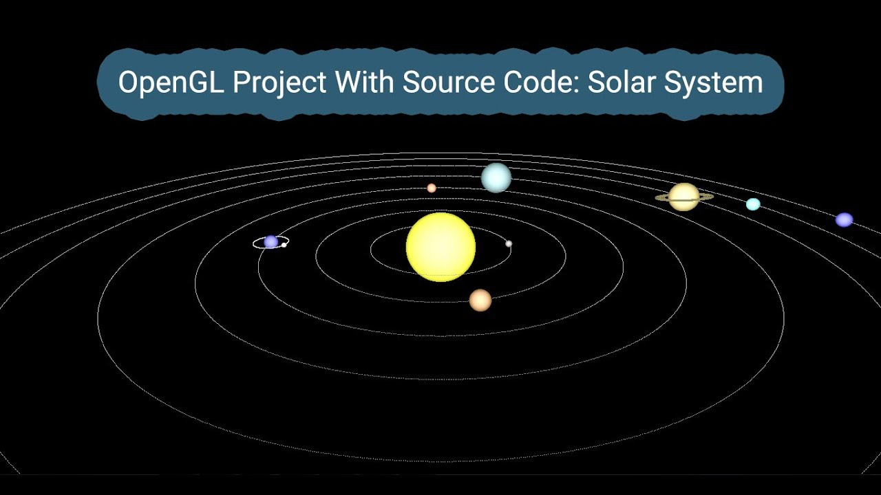 OpenGL - Project Demo with source code - Solar System