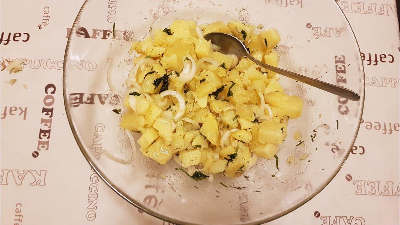 Немецкий Картофельный салат  самый простой как делают в Баварии и какой был в детстве при СССР