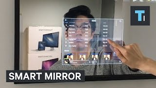This mirror has a personalized computer hidden inside