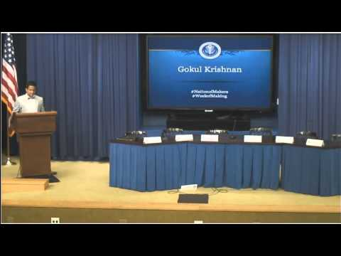Gokul Krishnan's mobile Makerspace honored at White House ceremony