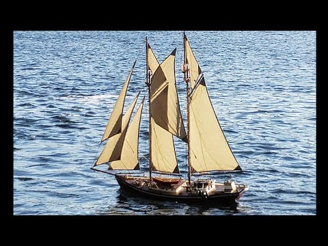 Schooner Kamanik -  First Test With Topsails
