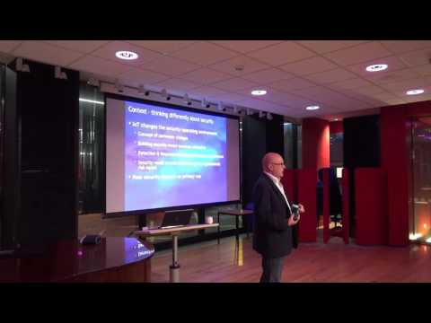 Robert Hayes (Microsoft Enterprise Cybersecurity Group) at IOT//EDI 24 March, 2016