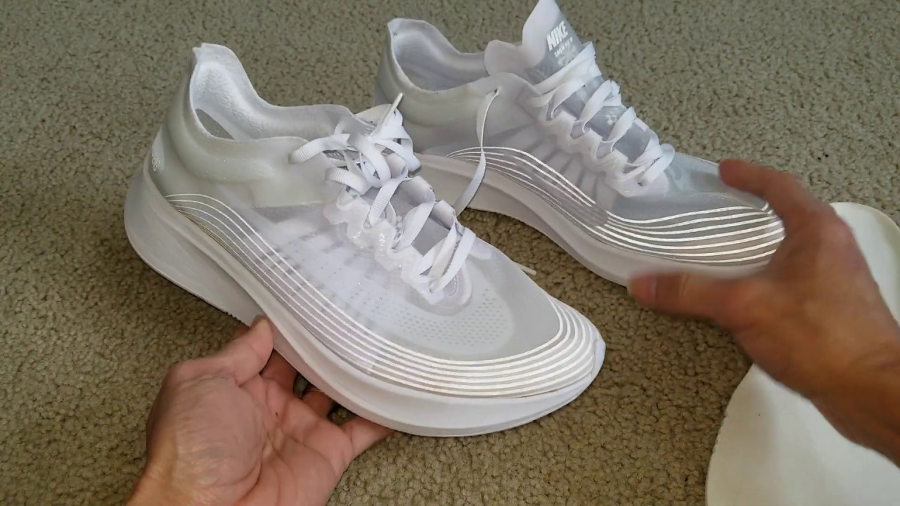 NIKE ZOOM FLY SP Triple White Shoes +