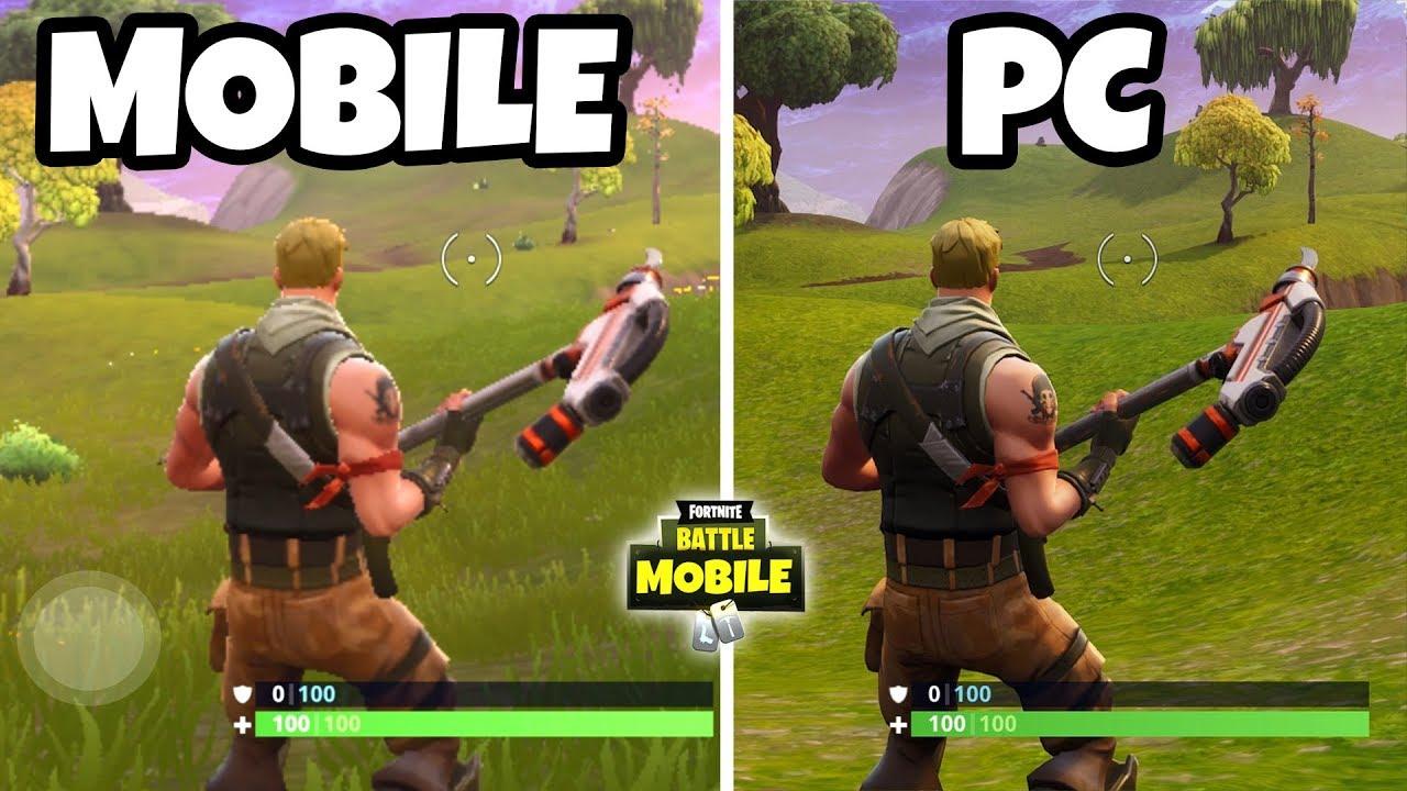 FORTNITE MOBILE (iOS & Android) vs Fortnite (PC, Xbox, PS4)