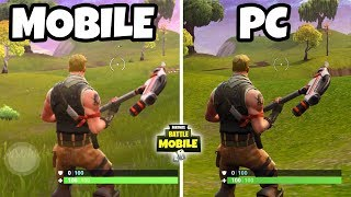 FORTNITE MOBILE (iOS & Android) vs Fortnite (PC, Xbox, PS4)