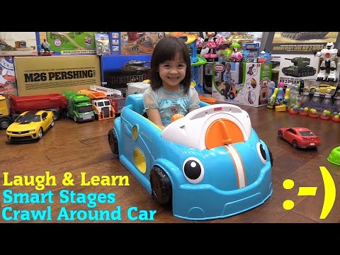 Educational Toys For Toddlers: Fisher-Price Smart Stages Crawl Around Car Unboxing And Playtime Fun