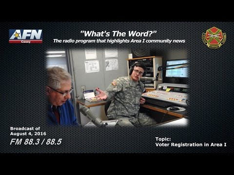 WHAT'S THE WORD? - The radio program that highlights news of the Area I community in Korea.