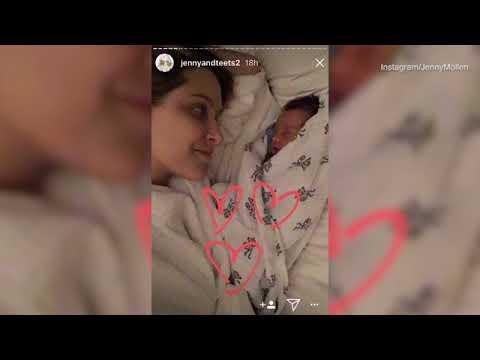 Jenny Mollen breastfeeds newborn son as she cites Aristotle
