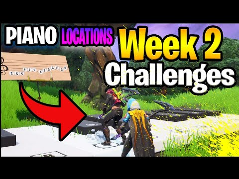 Pleasant Park & Lonely Lodge Piano Locations Guide - Fortnite Battle Royale (Season 7 Challenge)