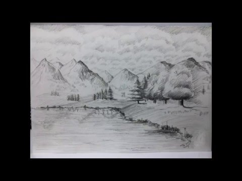 how can ı draw landscape in 3 minutes