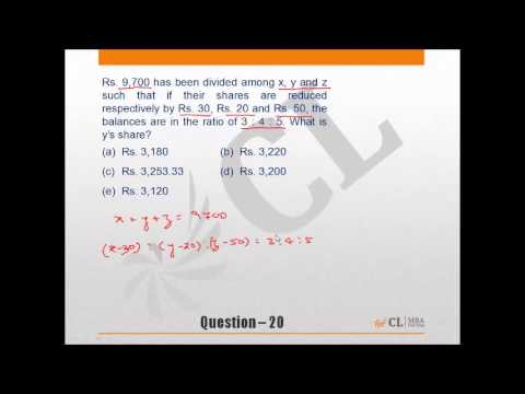 CAT MBA Fundamentals of Ratio-Part 1